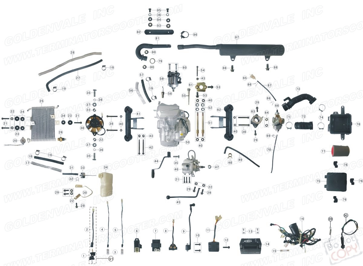 roketa 250cc atv wiring diagram 50cc chinese atv wiring diagram  u2022 creativeand co