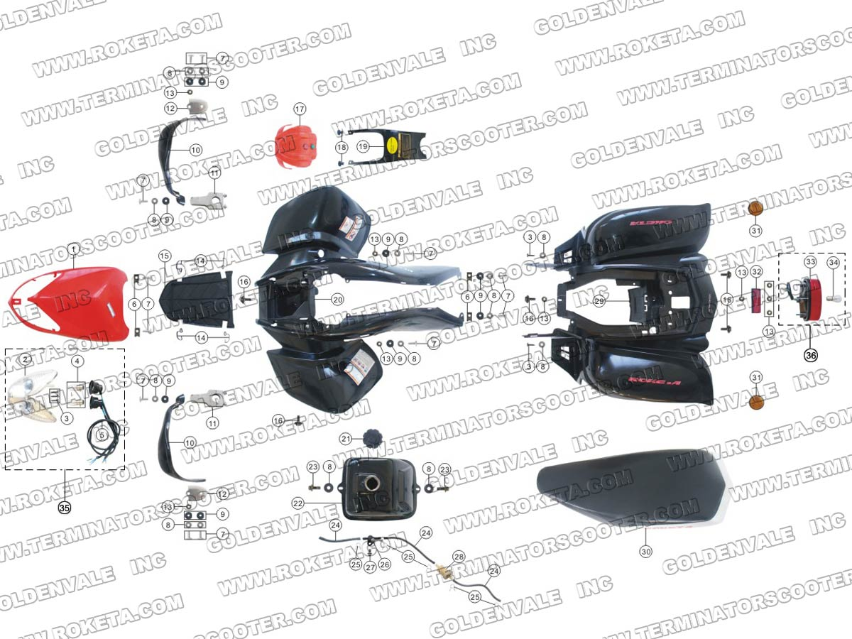Roketa Atv Parts Diagram Trusted Wiring 250cc Free Download 04 200 Body 110