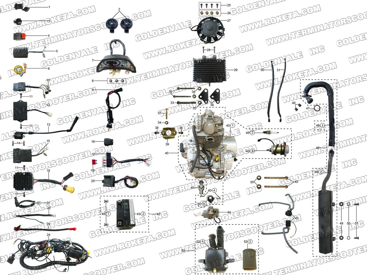 Roketa Atv Parts Diagram