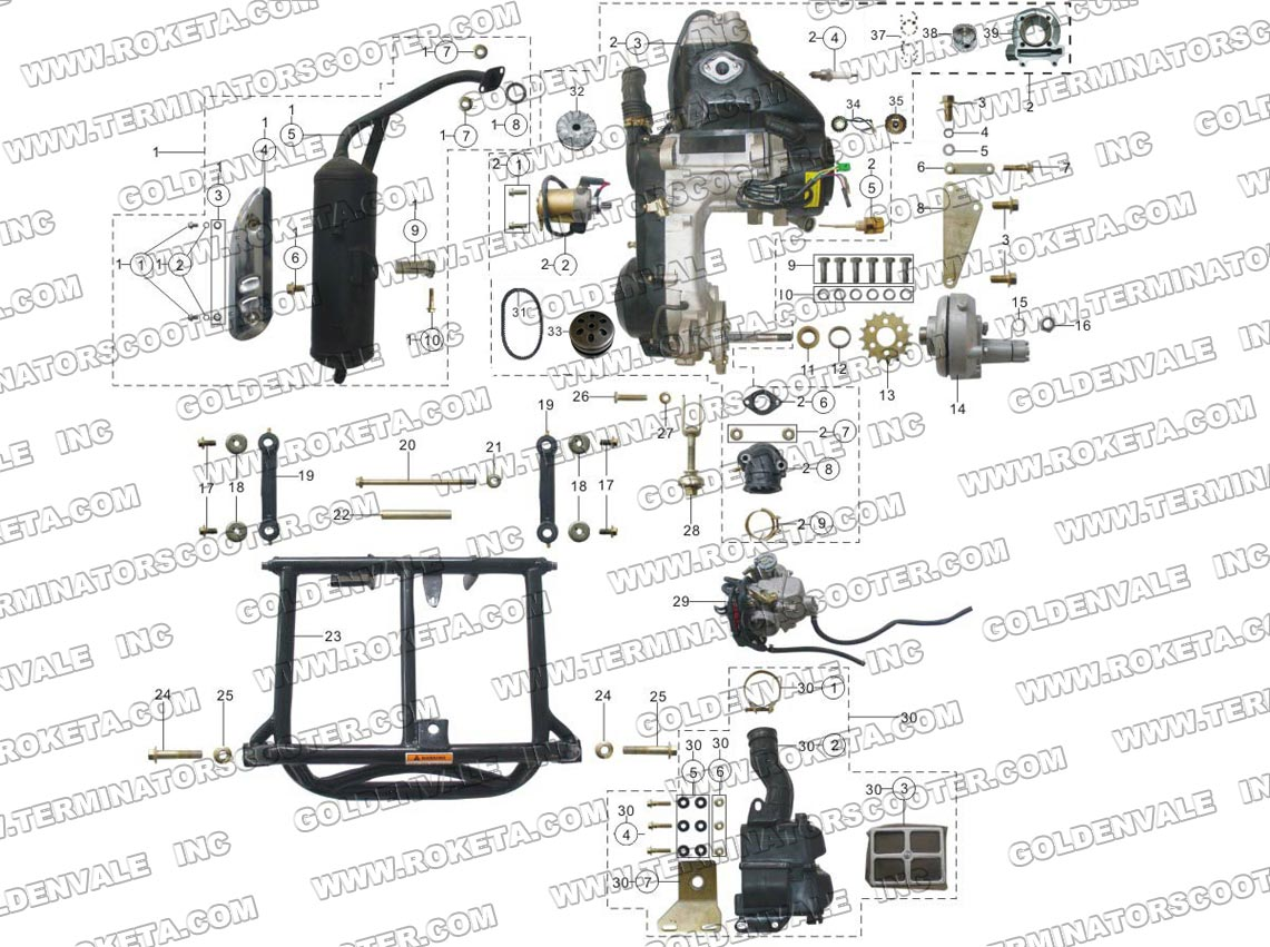 roketa 250cc buggy wiring diagram roketa 4 wheeler parts