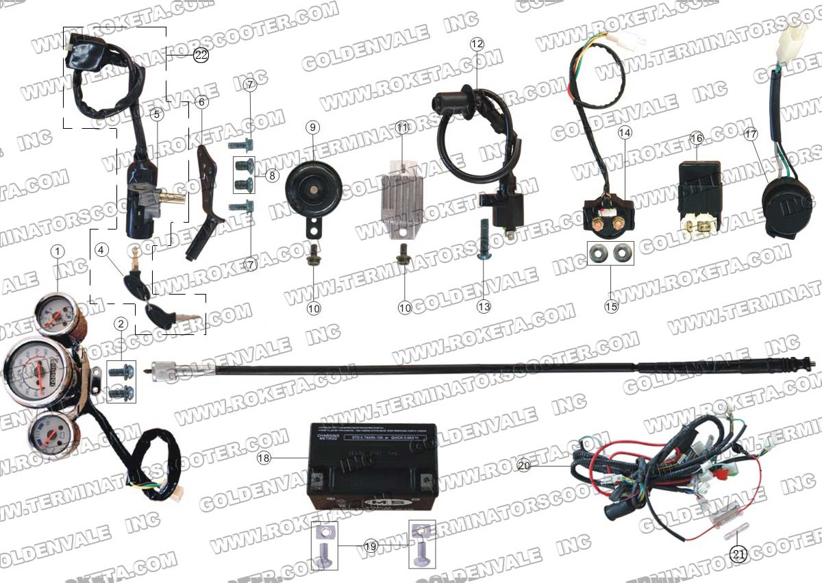 Roketa Mc 16 150 Electrical Parts Wiring Diagram