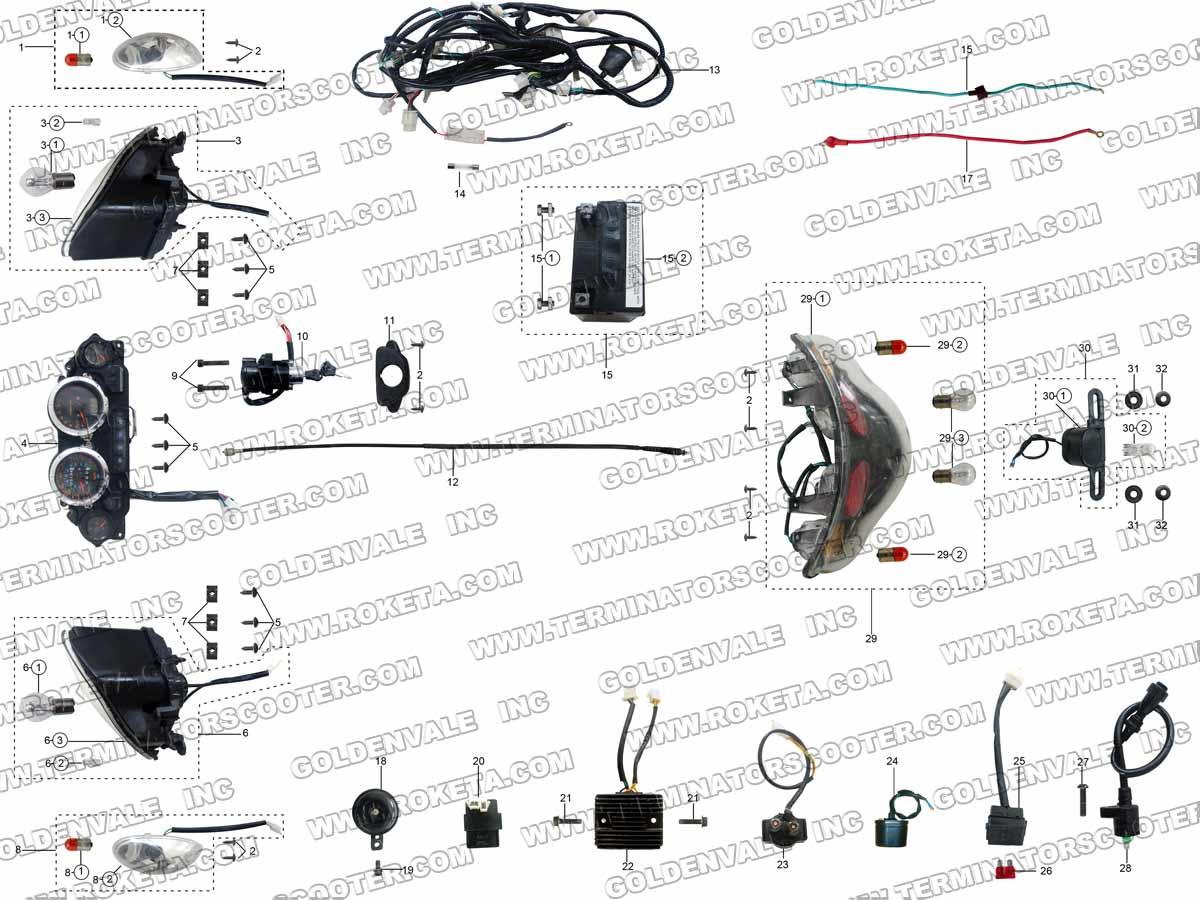 roketa mc 54 250 electrical parts Series and Parallel Circuits Diagrams