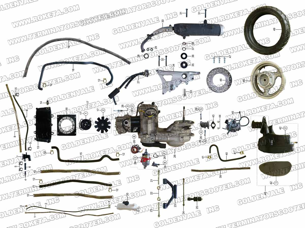 roketa mc 54b 250 engine and rear wheel assembly parts rh roketapartsdept com Roketa Motorcycles Roketa Brand