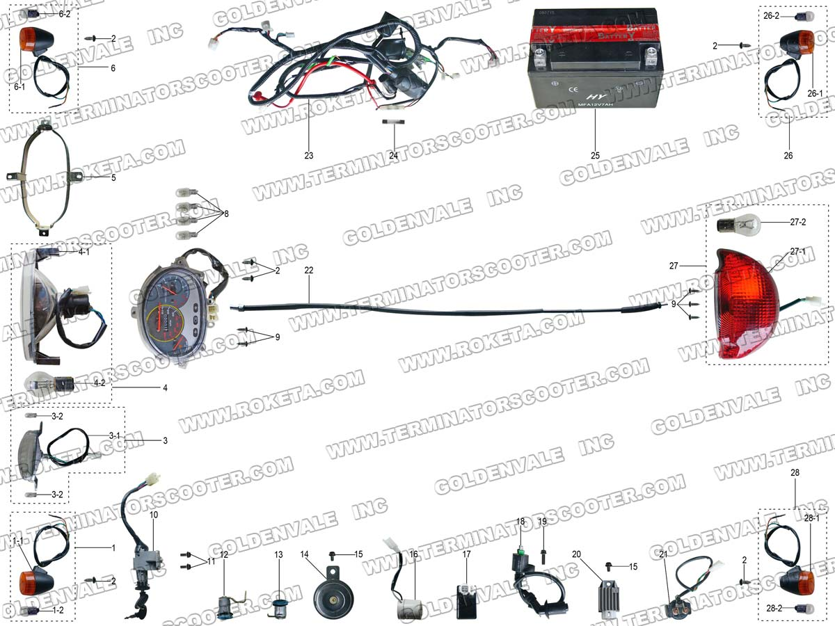 Wiring Diagram Roketa Mc 08 Library 150 78 Electrical Parts