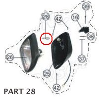 PART 28: ATV-01 BULB, HEADLIGHT