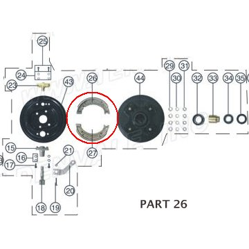 PART 26: ATV-01 FRONT BRAKE SHOES