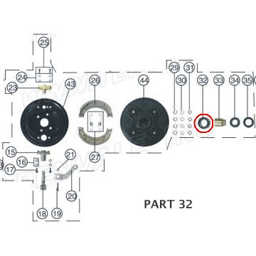 PART 32: ATV-01 BEARING 1, FRONT WHEEL
