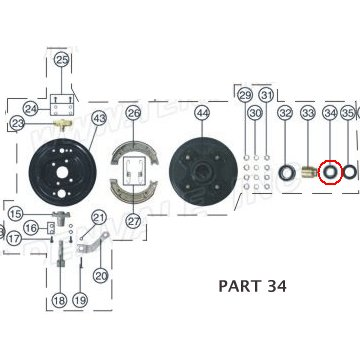 PART 34: ATV-01 BEARING 2, FRONT WHEEL