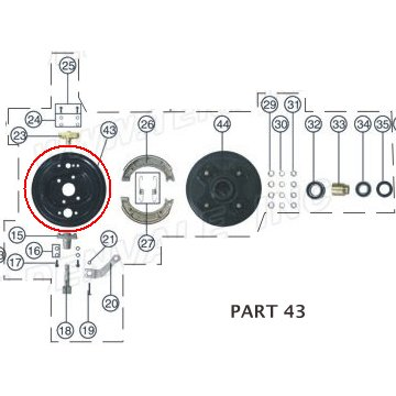 PART 43: ATV-01 RIGHT FRONT BRAKE HUB COVER