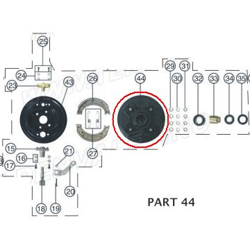 PART 44: ATV-01 RIGHT FRONT BRAKE HUB