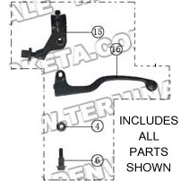 PART 32: ATV-04-200 CLUTCH LEVER ASSEMBLY