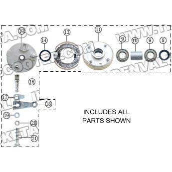 PART 41: ATV-04-250 RIGHT FRONT BRAKE HUB ASSEMBLY