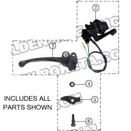 PART 31: ATV-04-250 THROTTLE LEVER ASSEMBLY
