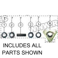 PART 07: ATV-08L FRONT WHEEL BRACKET ASSEMBLY