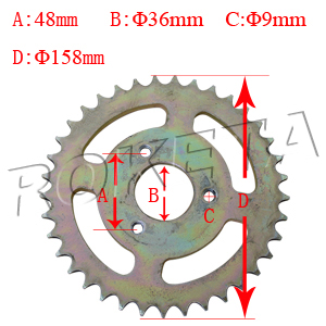 PART 18: ATV-15C REAR SPROCKET 428/37