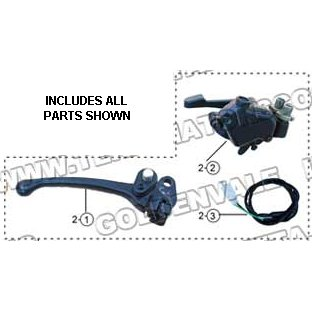 PART 02: ATV-17WS THROTTLE LEVER ASSEMBLY