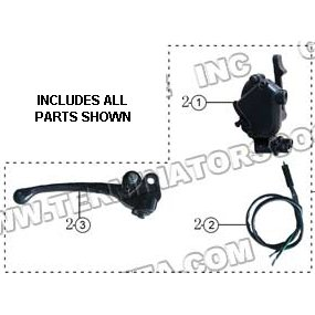 PART 02: ATV-26R THROTTLE LEVER ASSEMBLY