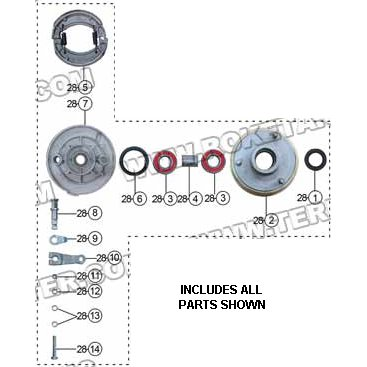 PART 28: ATV-26R FRONT RIGHT BRAKE ASSEMBLY