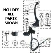 PART 58: DB-27 CLUTCH LEVER BRACKET ASSEMBLY