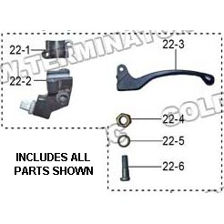 PART 22: DB-28 CLUTCH LEVER BRACKET ASSEMBLY