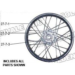 PART 27-7: DB-28 FRONT RIM 14 INCH