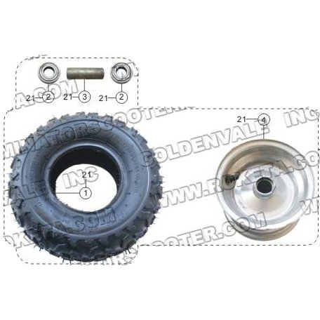 PART 21: GK-11 FRONT WHEEL ASSEMBLY
