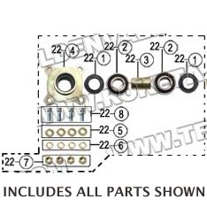 PART 22: GK-13 FRONT WHEEL BRACKET ASSEMBLY