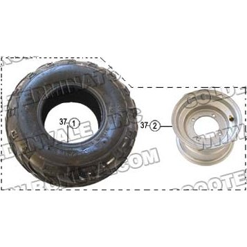 PART 37: GK-13 FRONT RIGHT WHEEL ASSEMBLY