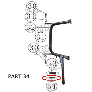 PART 34: MC-13-250 CENTER STAND SPRING 2