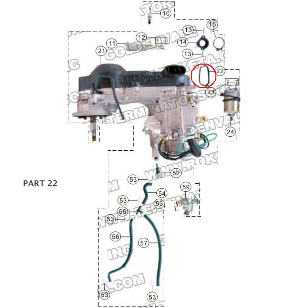 PART 22: MC-13-250 AIR CLEANER HOLD DOWN CLIP