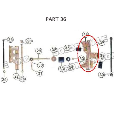 PART 36: MC-13-250 ENGINE SWING BRACKET 2