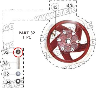 PART 32: MC-13-150 FRONT WHEEL BEARING