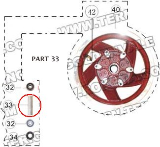 PART 33: MC-13-150 FRONT WHEEL BUSHING 1