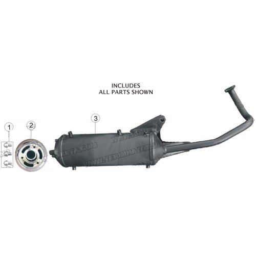 PART 08: MC-17-50 MUFFLER ASSEMBLY