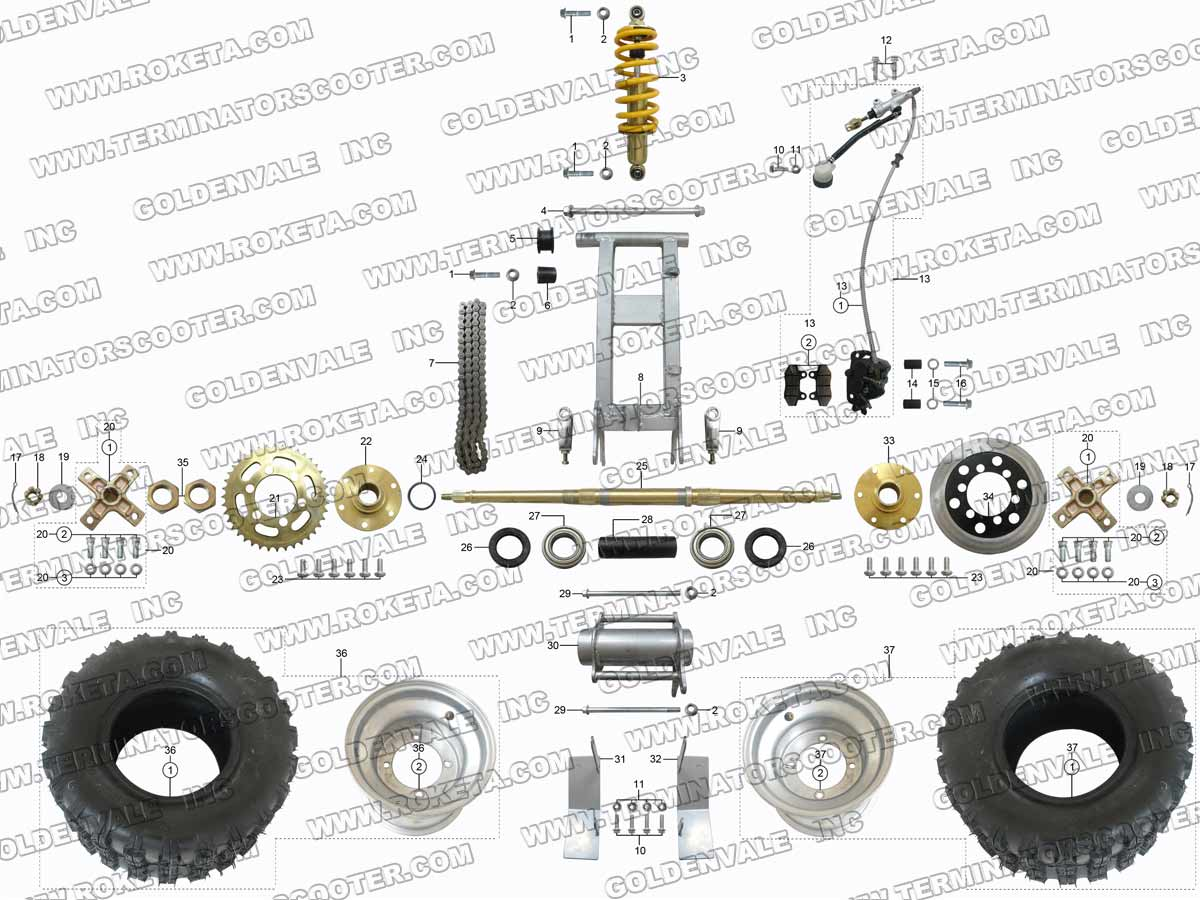 Roketa 4 Wheeler Parts Diagram Solution Of Your Wiring Guide Diagrams On A 250 Chinese Atv 04wc Rear Wheel Assembly Rh Roketapartsdept Com Honda