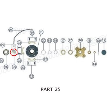 PART 25: ATV-01 SPEED SENSOR FIXING BLOCK