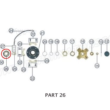 PART 26: ATV-01 BEARING 1, RIGHT REAR AXLE