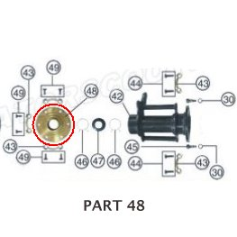PART 48: ATV-01 REAR BRAKE DISC BRACKET