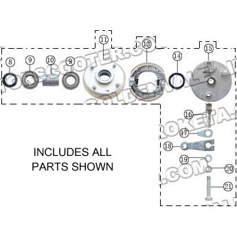 PART 40: ATV-04-200 LEFT FRONT BRAKE HUB ASSEMBLY