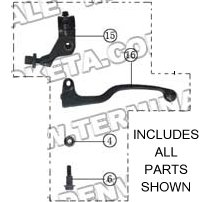 PART 32: ATV-04-250 CLUTCH LEVER ASSEMBLY