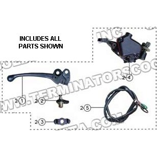 PART 02: ATV-17WC THROTTLE LEVER ASSEMBLY