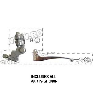 PART 14: DB-34 CLUTCH LEVER BRACKET ASSEMBLY