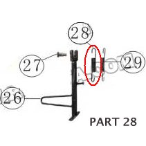 PART 28: MC-13-250 SIDE STAND SPRING 1