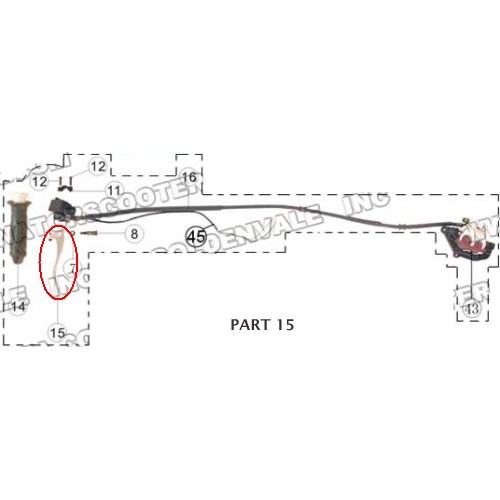 PART 15: MC-13-150 RIGHT BRAKE LEVER